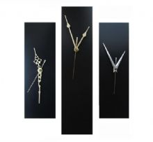 Contemporary Slim Wall Clock BLACK 30cm or 40cm